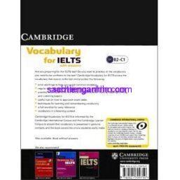 Vocabulary for IELTS with answers Cambridge 4
