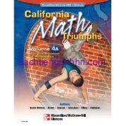 California Math Triumphs 4A The Core Processes of Mathematics